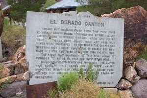 El Dorado Canyon Plaque