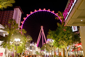 The High Roller viewed from the Promenade at the Linq Center